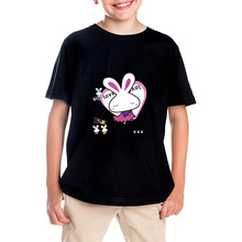 Child T-shirts for boys summer time 2017 sizzling sale 100% cotton T-shirt for woman brand-clothing Love Rabbit youngsters women shirt for boy
