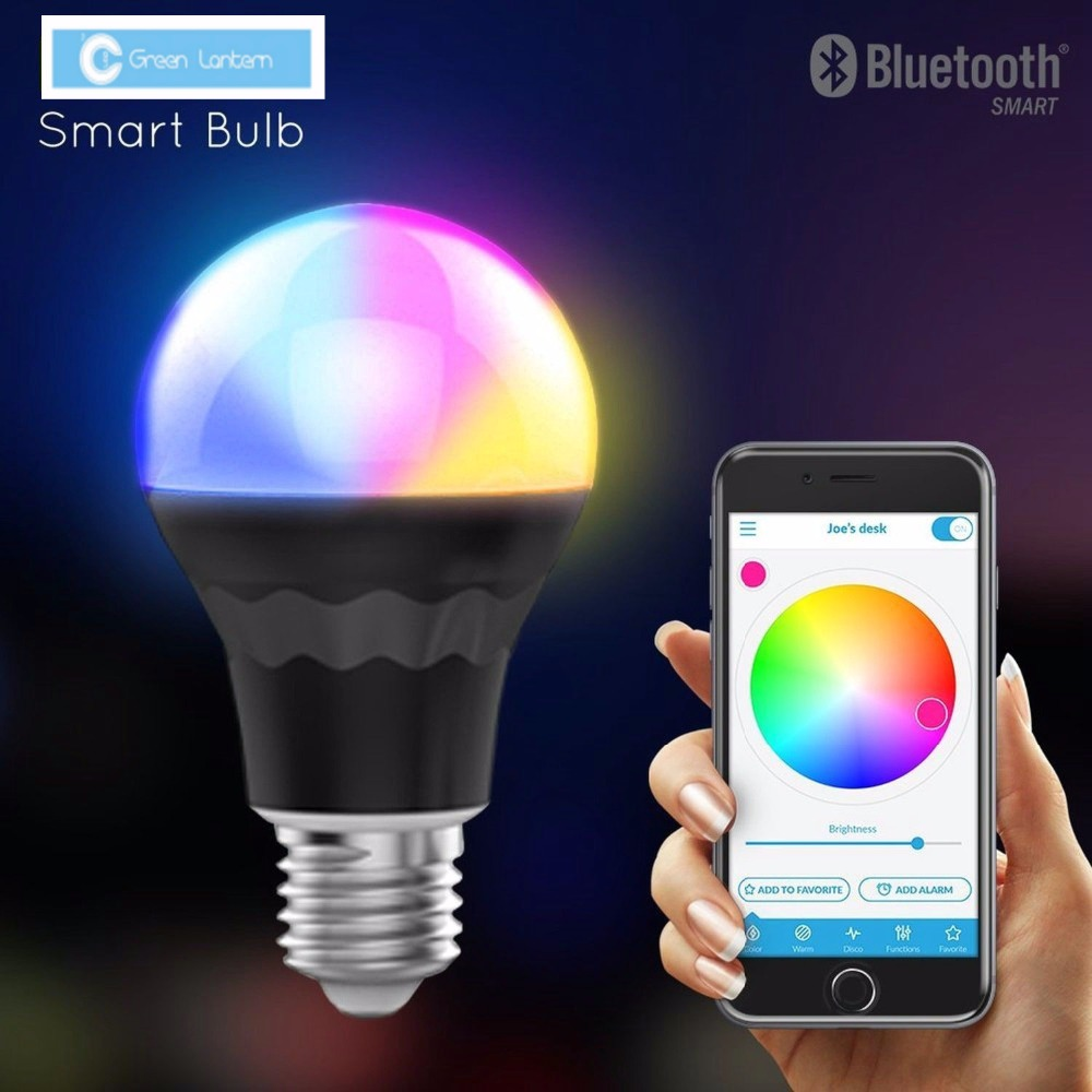 Smart Led Bluetooth A19 Light Bulb 7 5w 60w Equivalent Rgb Multi Color In Led Bulbs Tubes From