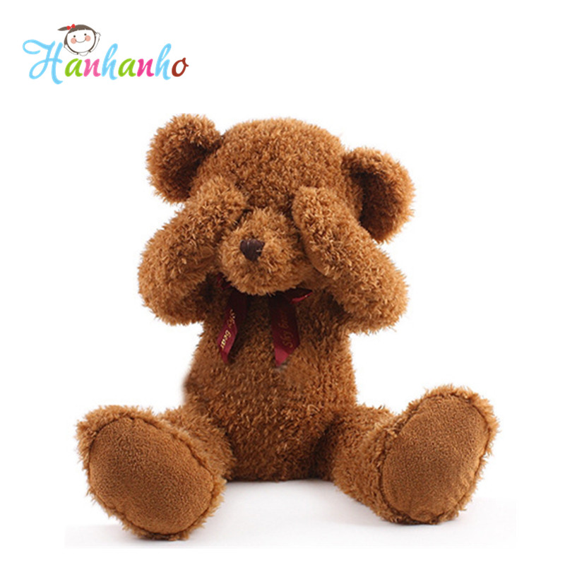 50cm Plush  Peek a Boo Shy Teddy Bear With Magnet Inside No Talking/No Listening/No Seeing Doll Stuffed Animal monster magnet monster magnet god says no 2 lp