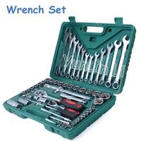 1 Set (61pcs) Socket Wrench Repair Service Tools Kit Spanner For Car Ship Desatornillador Kit