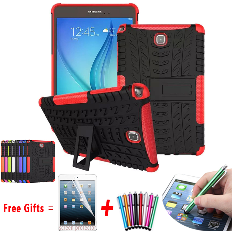 For Samsung Galaxy P350 P355 Case Hyun Pattern Kickstand Armor Silicone Hard Cover For Samsung Galaxy Tab A 8.0 T350 T355 Case tire style tough rugged dual layer hybrid hard kickstand duty armor case for samsung galaxy tab a 10 1 2016 t580 tablet cover
