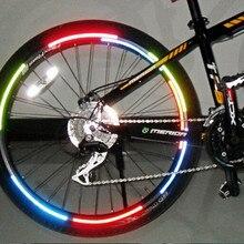 Велосипедный отражатель флуоресцентный MTB велосипедный стикер велосипедный обод колеса светоотражающий стикер s Наклейка наружные Аксессуары#35