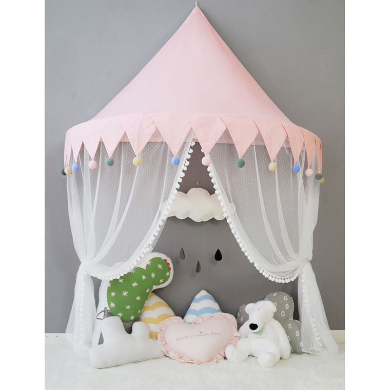 Cotton Infant Baby Mosquito Net Crib Netting Portable Kids Canopy Bed Play Tents House Tipi Enfant