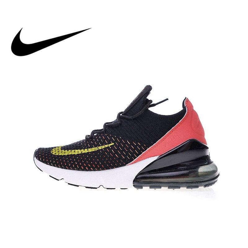 Authentique Nike Air Max 270 Flyknit chaussures de course pour femmes Sport baskets de plein Air respirant confortable durable AH6803