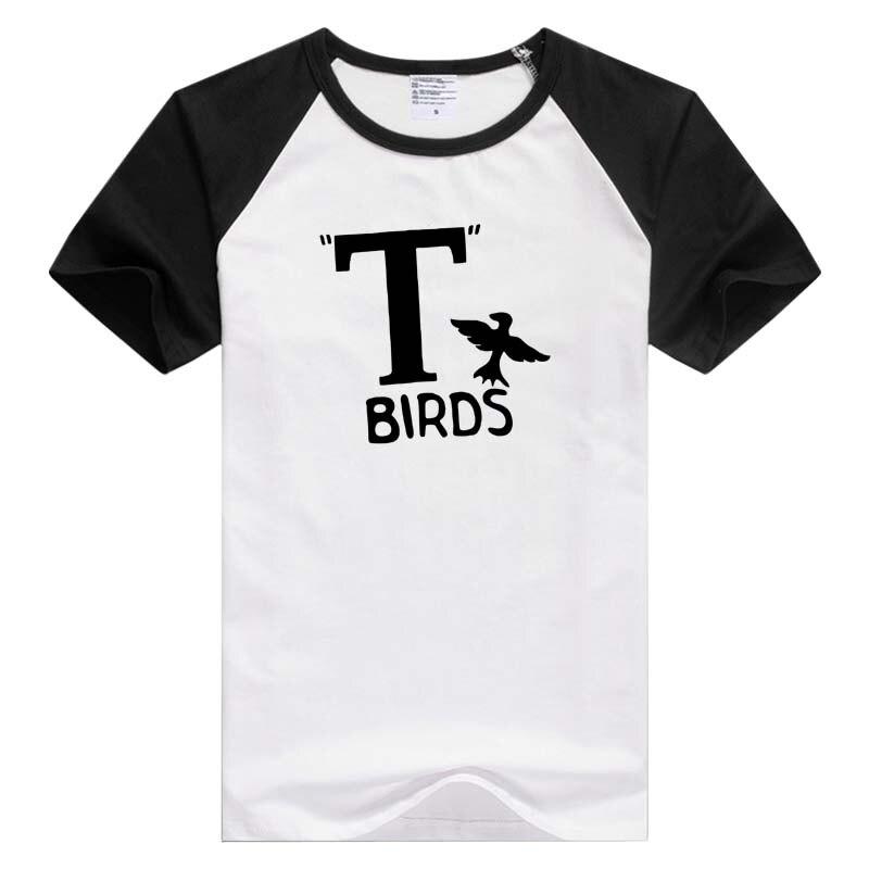 T Birds Ringer Grease short sleeve casual Men Women T-shirt Comfortable Tshirt Cool Print Tops Fashion GA957