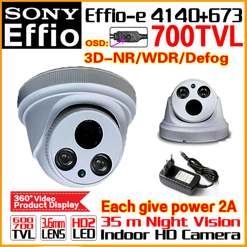 Sony Sensor!1/3CCD Effio Real 700TVL HD CCTV Security Camera Home Indoor Color Image Video ODS Meun Array Infrared Free Shippin free shipping new and original for niko d7000 coms image sensor unit d7000 ccd 1h998 175