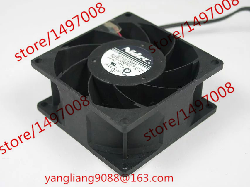 Free Shipping For Nidec V35132-16LRCKF DC 24V 0.45A 2-wire 2-pin connector 80mm 80x80x38mm Server Square Cooling Fan free shipping for nidec r40w12bs2ca 57a05 43v6928 43v6929 dc 12v 0 84a 40x40x56mm 8 wire 6 pin connector server square fan