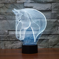 Baby Children Toys Lovely Horse 3D Illusion LED Night Lights Colorful Acrylic Table Lamp For Party Christmas Gift Home Decor