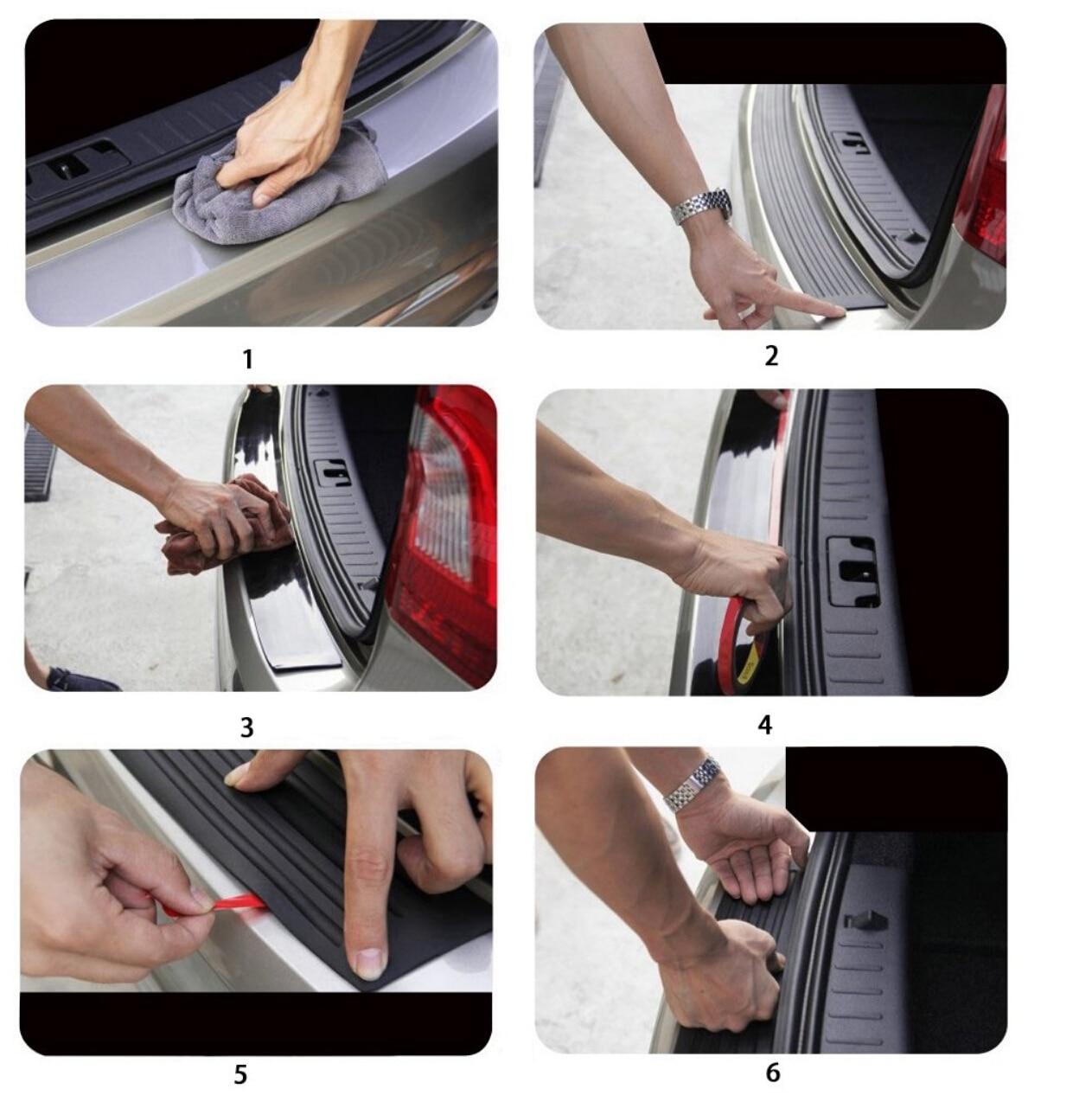 Image 3 - Rear Guard Bumper Protector hot car Accessories for Opel Antara Astra K J H G Crossland X Grandland X Insignia Mokka X Signum-in Car Tax Disc Holders from Automobiles & Motorcycles