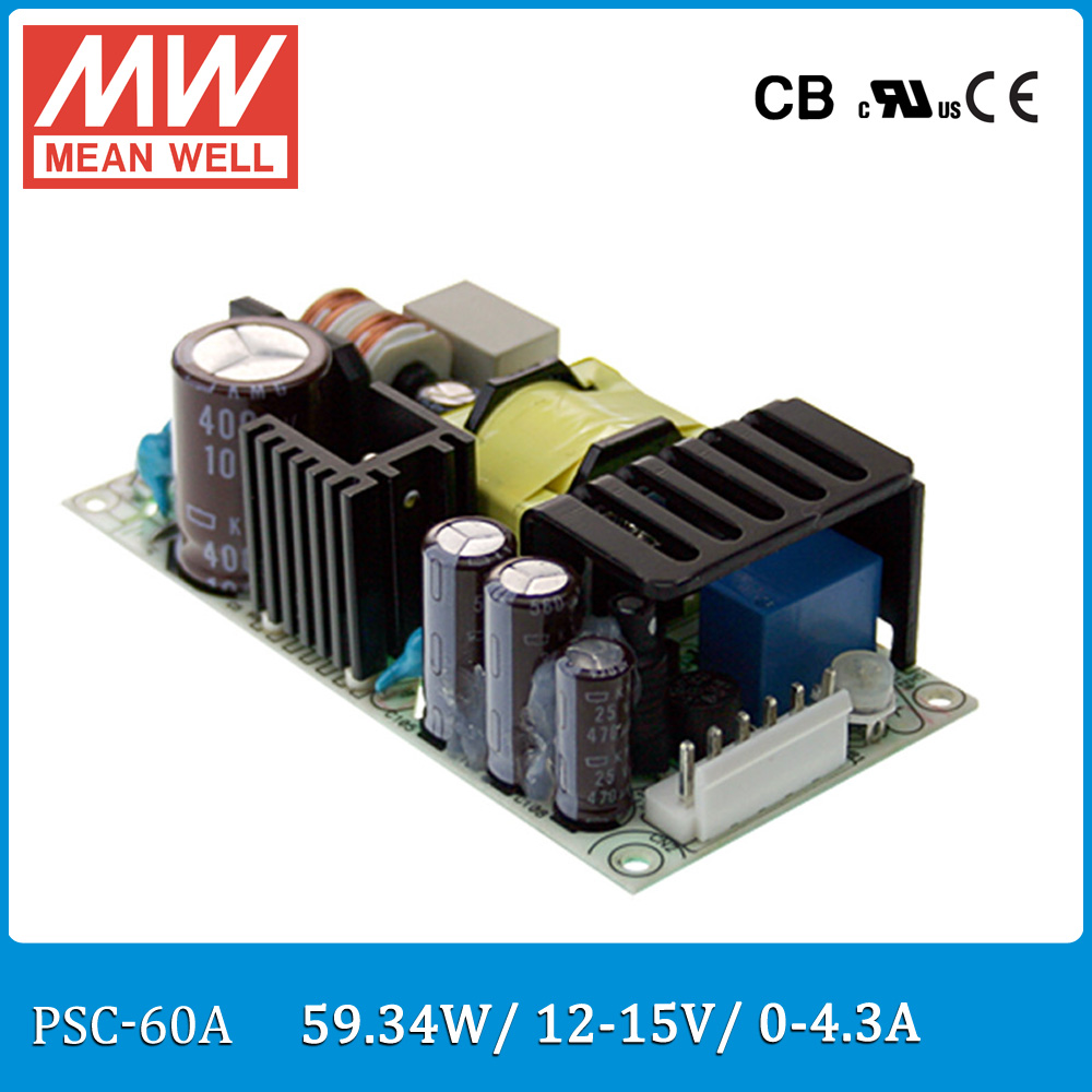 Original Meanwell Psc 60a 60w 1215v 043a Security Power Supply Ups Circuit Diagram 100w Battery Chargerups Function Pcb Type
