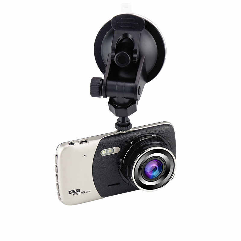 """Мини Автомобильный видеорегистратор с двойным объективом видео 3,6 """"дюймовый рекордер парковочная Автомобильная камера видеорегистратор Full HD 1080 P ночного видения авто черный dvr камера"""