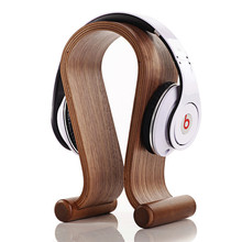 2016 New Arrival Hot Selling Fashion Wooden Stand Dock headset Bracket for Head-mounted wooden Wearing headphones Free Shipping