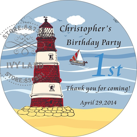 Free Shipping,New Paper,Custom Adhesive Sticker / Label,For Baby Shower / Birthday,Circle 5cm,B31