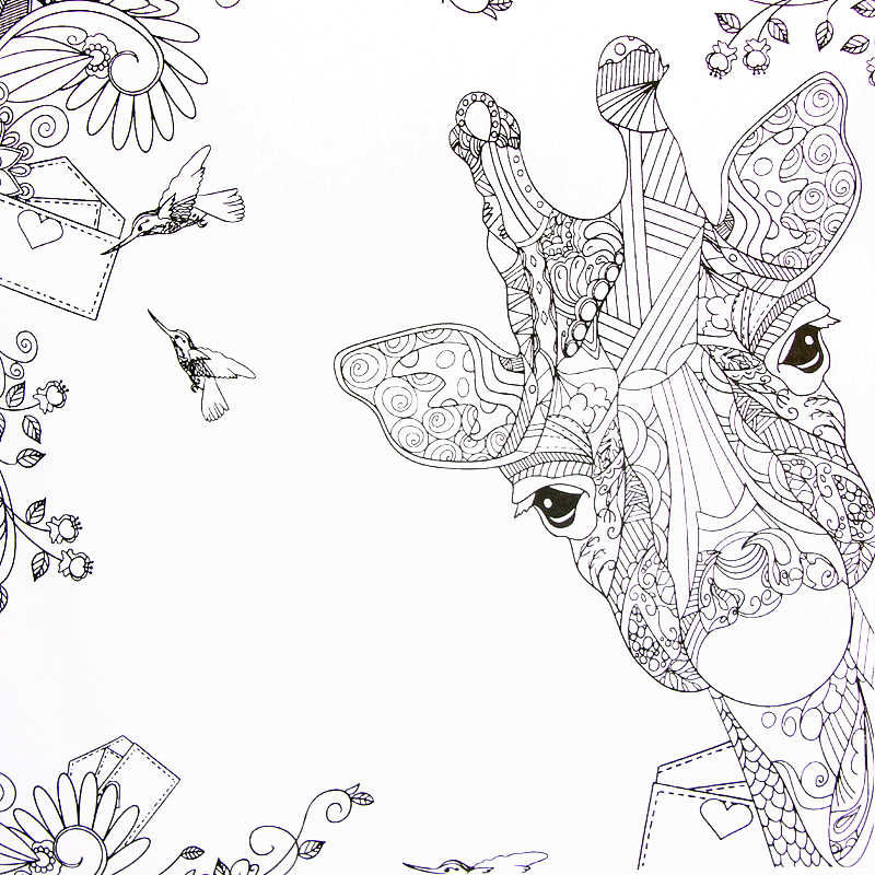 Enchanted Forest coloring book by Johanna Basford: the ... | 800x800