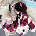180x65cm 100% Silk Women's Luxurious Scarves 2017 Woman Spell Color Scarf Stripes Shawls and Wraps ST
