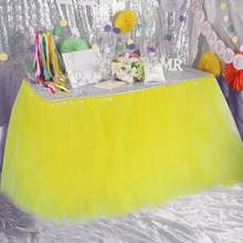 Pure Color Baby Shower Birthday Party Tulle Table Skirts Infant Tutu High Chair Skirt Holiday Festive Party Decoration Supplies(China)
