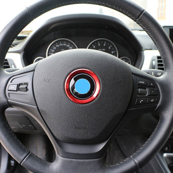 Car Styling Decoration Ring Steering Wheel Circle Sticker For BMW M3 M5 E36 E46 E60 E90 E92 X1 F48 X3 X5 X6 image