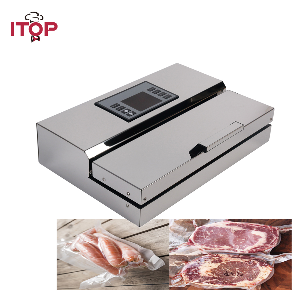 ITOP Commercial Vacuum Food Sealers Electric Vacuum Packing Machine Film Vacuum Packer With Vacuum Packing Storage Bags clothes vacuum packing clothes storage bags