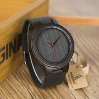 BOBO BIRD Wood Watch Men High Quality Japanese Genuine Leather Strap Male Wristwatch Accept Logo Customize