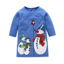 b4e255300 MUQGEW bebé Niños Niñas Ropa de Navidad de dibujos animados muñeco de nieve  impresión vestidos trajes vetement enfant fille vest.
