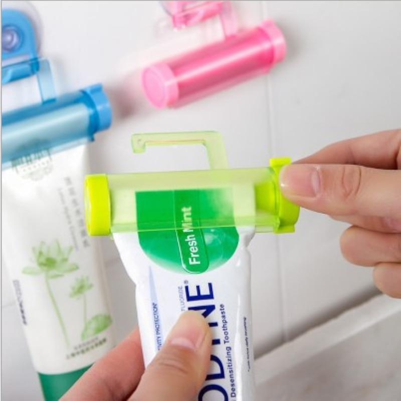 Dental Cream Bathroom Accessories Manual Syringe Gun Dispenser Rolling Squeezer Toothpaste Dispenser Tube Sucker Holder