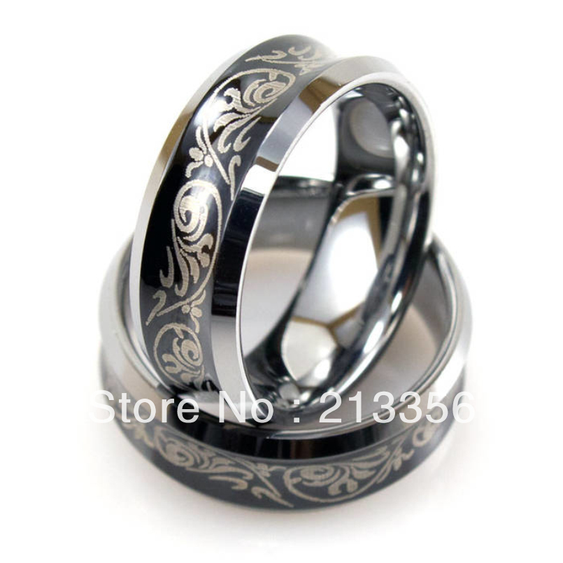 wholesales cheap price promotion sales usa hot selling mens black tungsten wedding