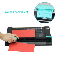 A4/A5/A6 Manual Paper cutter +paper creasing machine with 6pcs knife Precision Paper Photo Trimmers 2 in 1 PVC paper trimmer