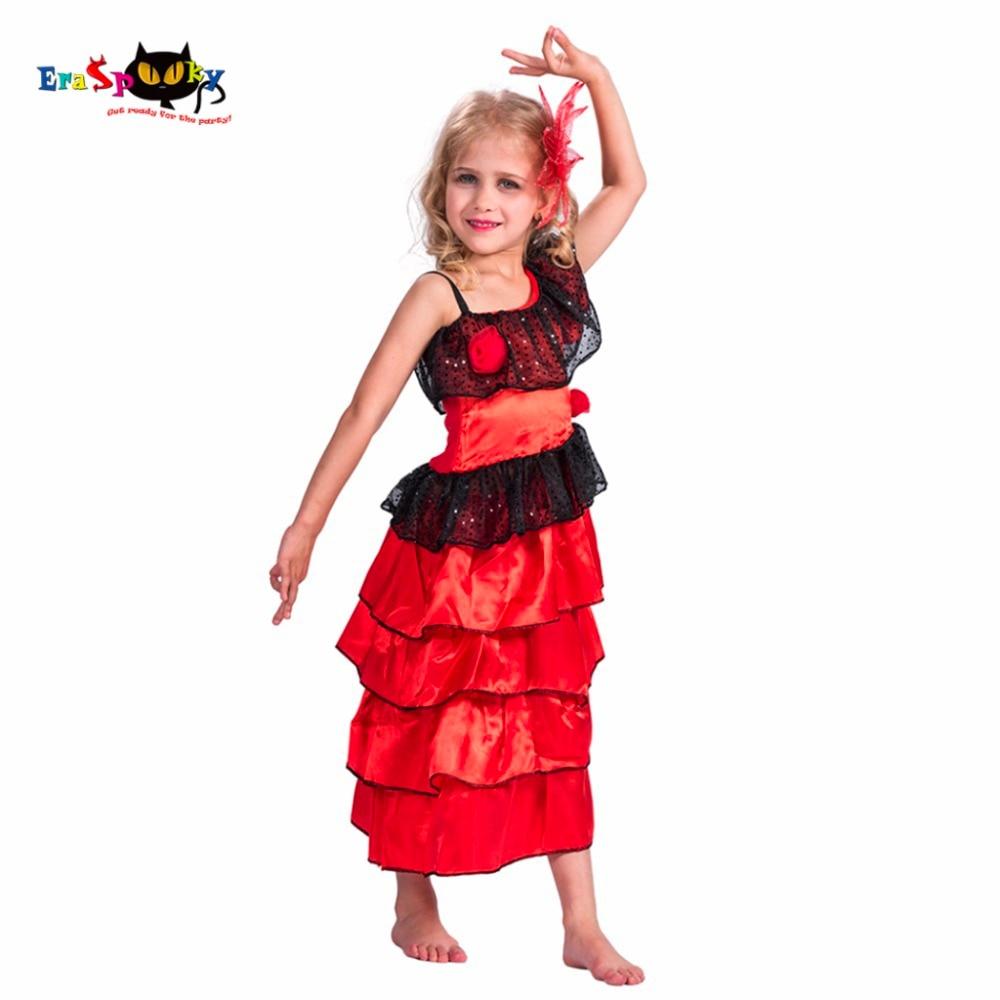 2017 Նոր Flamenco Dancer Red Fancy Long Իսպանիա Պարի - Կարնավալային հագուստները