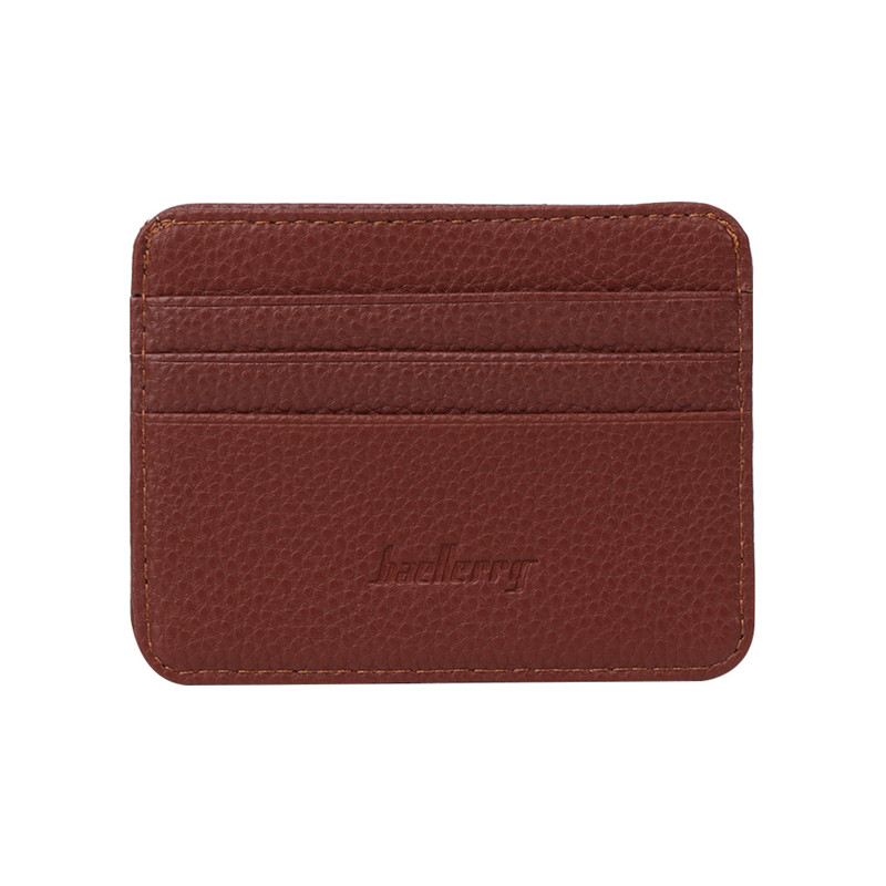 91124ed8f0e7 US $1.4 30% OFF|Baellerry 1 PC Men's 3 Credit Cards Business Pocket Slim  Thin ID Credit Card Money Holder Wallet 6 Color-in Card & ID Holders from  ...