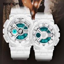 SANDA 새로운 패션 캐주얼 스포츠 디지털 커플 시계 방수 LED 손목 시계 남성 여성 연인 시계 Relogio Masculino