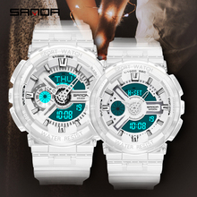 Sanda Nieuwe Mode Toevallige Sport Digitale Paar Horloge Waterdicht Led Horloges Mannen Vrouwen Lovers Horloges Relogio Masculino