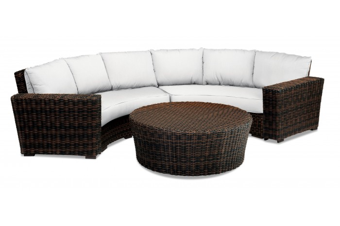 Sigma Summer Arrival Synthetic Rattan Outdoor Round Turkish Sofa Furniture