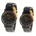 Nuevos Relojes del Amante Hombres Mujeres Caja De Madera de Sándalo Negro Relojes de pulsera de Cuarzo de Janpan Relojes de Pulsera con la Caja