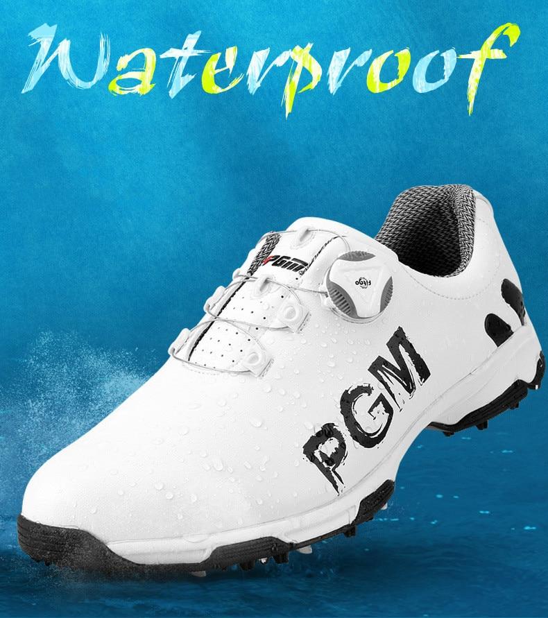PGM golfe sapatos masculinos calçados esportivos rendas