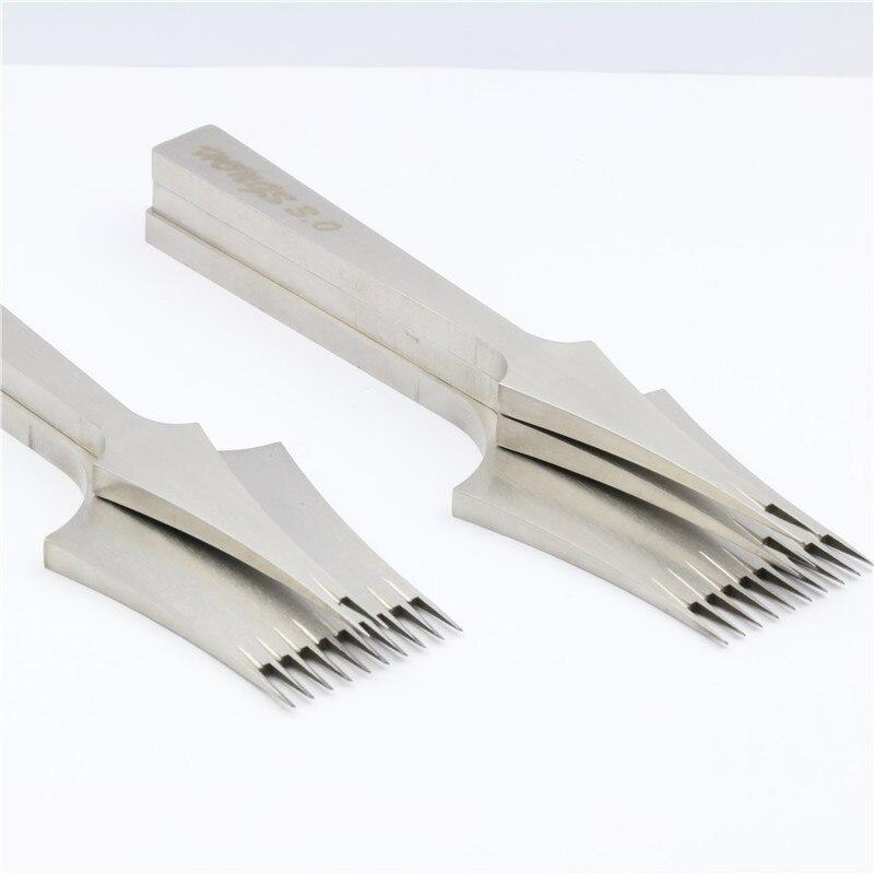 Хорошее качество Mitsubishi Кожа Инструменты Лечение ремесел DIY Шить удар укалывание Утюг 2.7 мм/3.0 мм/3.38/ 3.85 интервал