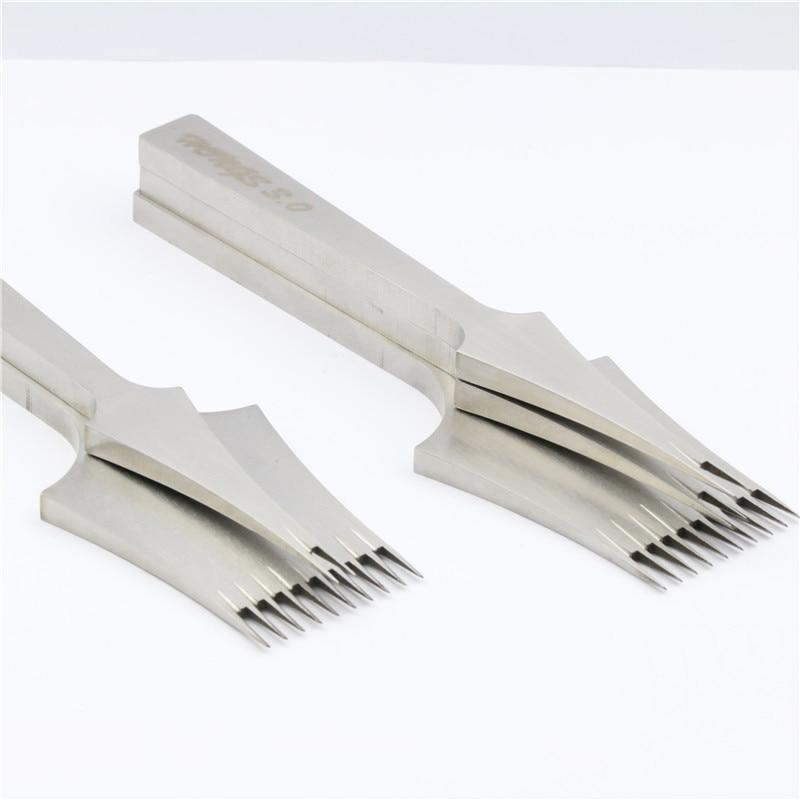 Bonne qualité Mitsubishi cuir outils traitements artisanat bricolage couture poinçon piquant fer 2.7mm/3.0mm/3.38/3.85 espacement-in Outils et accessoires de couture from Maison & Animalerie    1