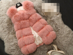 Новое поступление, зимний теплый модный длинный женский жилет из искусственного меха, пальто из искусственного меха, жилет из лисьего меха, женский жилет, большие размеры, S-4XL