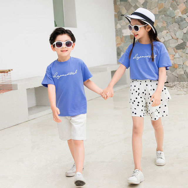 Mother Father Daughter Shirts + Dot Pants Mommy and Me Dresses Family Matching Clothes for Baby Boys Clothing Sets Summer Sister