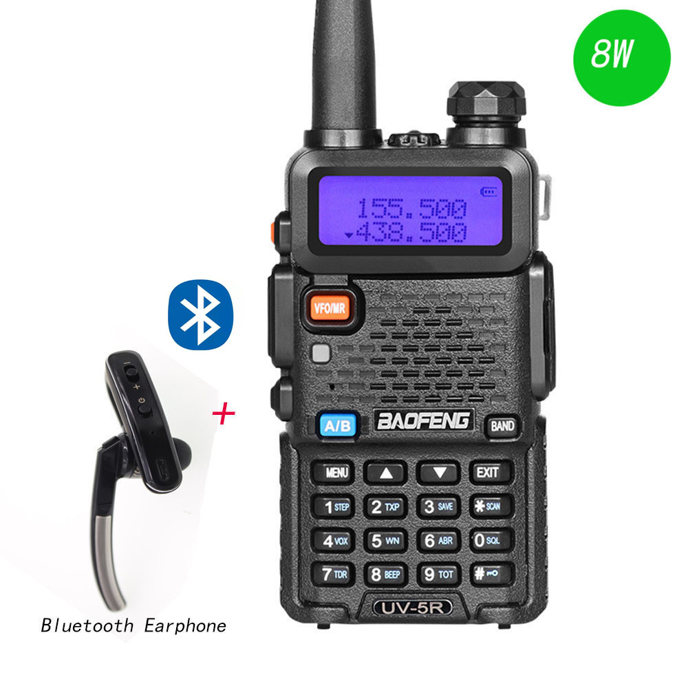 BaoFeng UV 5R 8W Walkie Talkie Dual Band Two Way Radio Pofung Portable Ham Radio Transceive