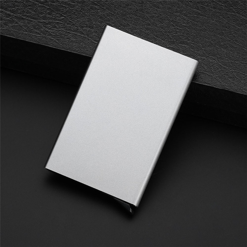 Men Women thin Business ID Credit Card Holder Wallets Pocket Case RFID Aluminum Wallet