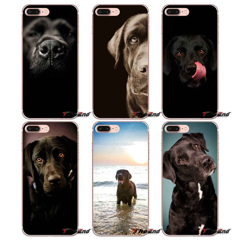 the best attitude 8926a 0199c pretty Black Lab Labrador puppy Dog Soft Case For iPhone X 4 ...