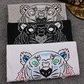 Mulheres Da Moda verão Camisa TigerT 3D Tiger Cabeça de Impressão Spandex do Algodão Ocasional de Manga Curta Tshirt Homme