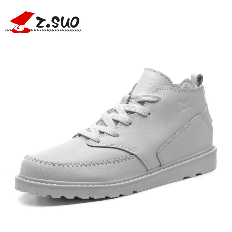 ZSUO Genuine Leather Women Ankle Boots 2018 Autumn Winter High Quality Handmade Snow Boots Woman Lace-up White Women Shoes Botas 2018 high quality handmade thick heel women shoes genuine leather women boots martins winter vintage ankle boots botas mujer