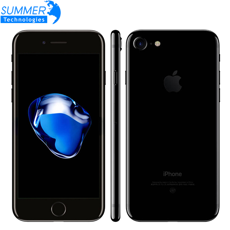 Apple iPhone 7 iPhone 7 plus iOS Quad Core A10 teléfono móvil 3 GB RAM 32 GB 128 GB 256 GB ROM Dual 12.0MP LTE utiliza Smartphone