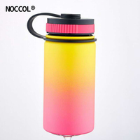 NOCCOL Creative Gradual Color Thermos Bottle 2018 Stainless Steel Coffee Vacuum Sport Water Bottle Space Flask Botella De Agua