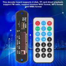 12V Wireless USB TF Card Decoder Board Audio Module Bluetooth 3.0 EDR with Remote Control For Car Radio(China)