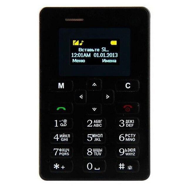 Russian Keyboard Ultra Thin AIEK M5 Card Phone 4.5mm Mini Pocket Mobile Phone Students Children AEKU Mini Card Phone