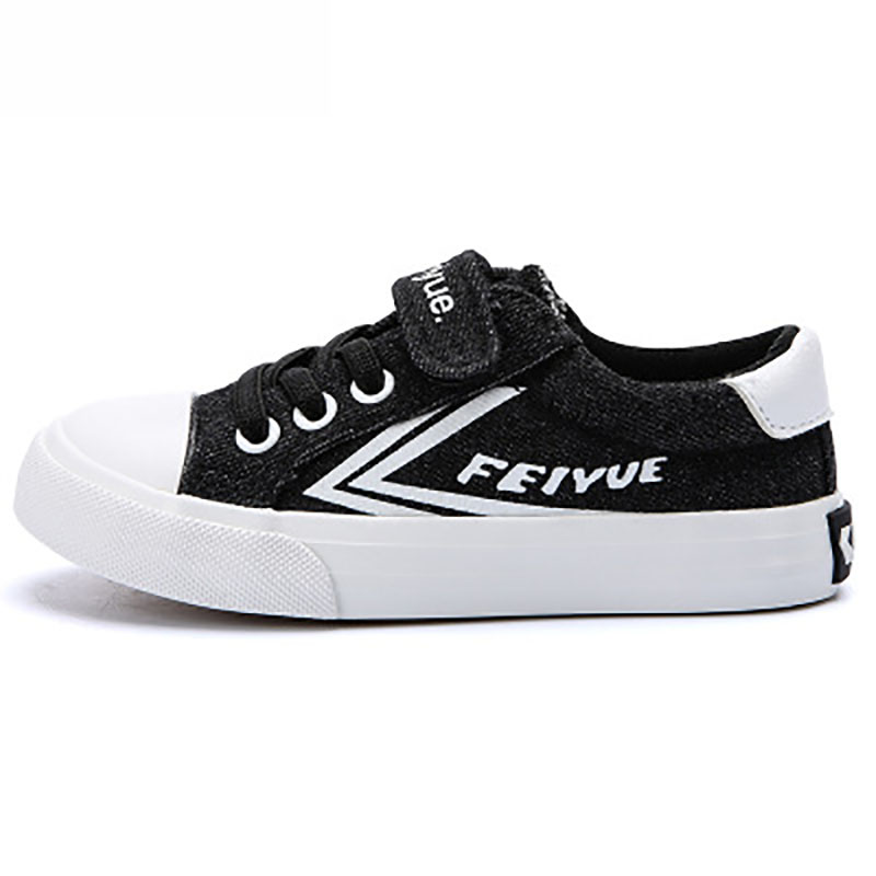Us 31 05 11 Off Eu23 37 Brand Black Classic Canvas Fitness Sneakers Children Feiyue Kids Boys Girls Korean Casual Skateboarding Shoes Students In