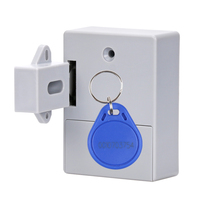 New RFID Hidden Drawer Lock Furniture Desk Cabinet Locker Lock Safety Smart Home Door Cupboard Childproof Locks Free shipping