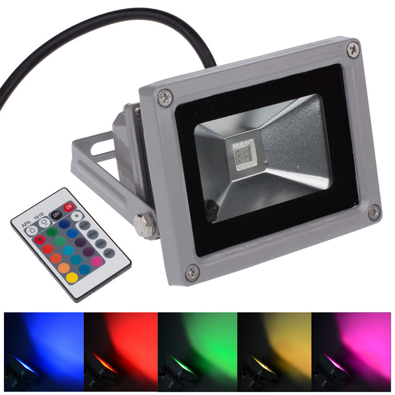 10w 20w 30w rgb led flood light cob exterior spotlight ip65 led
